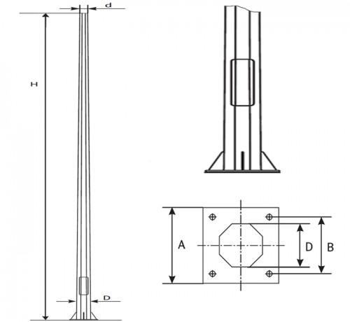 опоры освещения ОГК, схема