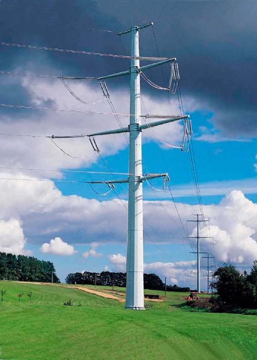 Многогранные опоры линий электропередач ВЛ 110 кВ